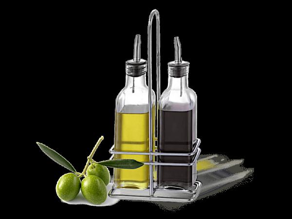 L'olio, l'aceto e i condimenti
