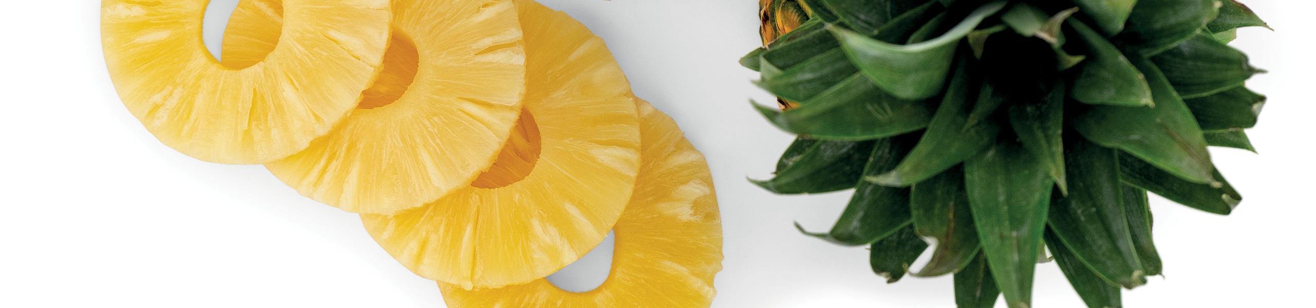 Ananas a fette allo sciroppo