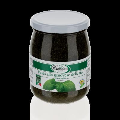 Pesto alla genovese delicato senza aglio